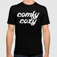 comfy cozy SMALL Black Mens Fitted Tee