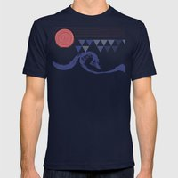 Ocean Mens Fitted Tee Navy SMALL