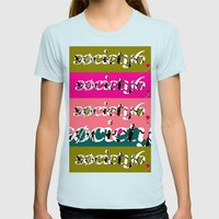 Sick Click Womens Fitted Tee Light Blue SMALL