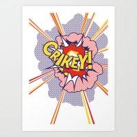 Crikey Roy! Art Print