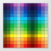 Colourful Squares Canvas Print