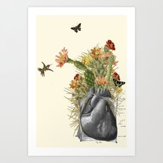 thorns anatomical heart collage by bedelgeuse Art Print