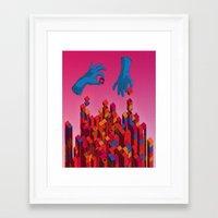 Solution for Blocks Framed Art Print