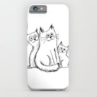 iPhone & iPod Case featuring Cats by Lorène Russo illustration
