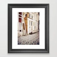 Wooden Shutters Framed Art Print
