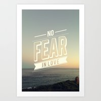 No Fear In Love Art Print