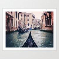 Venice By Gondola Art Print