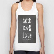 Faith, Hope and Love Unisex Tank Top