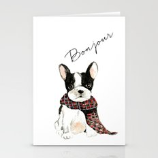 Joyeux Noel Frenchie Dog Stationery Cards