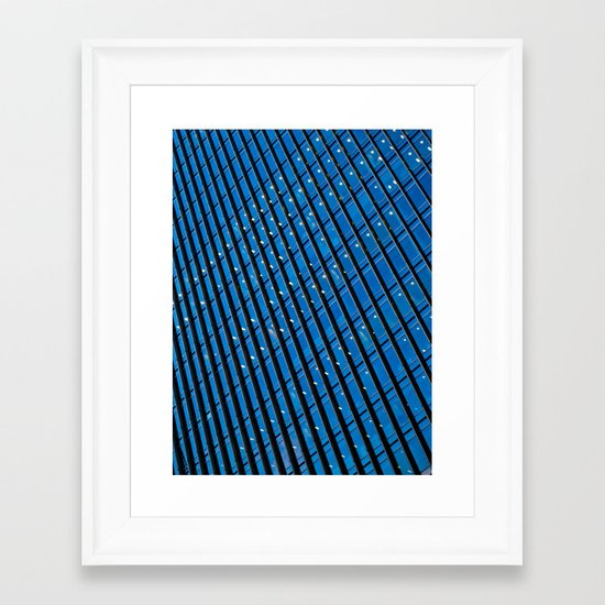 Skyscraper Abstract Framed Art Print