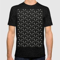 Butterfly pattern Mens Fitted Tee Tri-Black SMALL