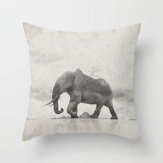 Rocky Elephant Throw Pillow