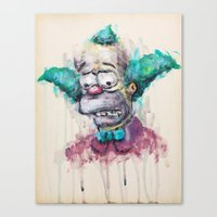 Krusty Canvas Print