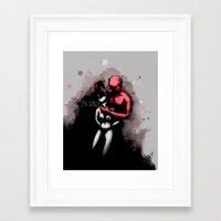 Be Scared Framed Art Print