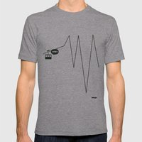 WTF? Riel! Mens Fitted Tee Athletic Grey SMALL