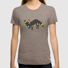 Umbreon Womens Fitted Tee Tri-Coffee SMALL