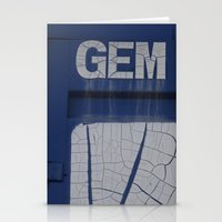 Gem Blue Stationery Cards