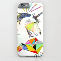 unicorn iPhone & iPod Cases featuring Unicorn by Belén Segarra