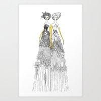 Sisters of nature Art Print