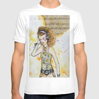 She Listens Mens Fitted Tee White SMALL