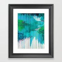 BLUE MONSOON - Stunning … Framed Art Print