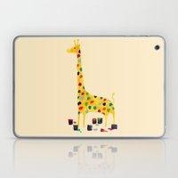 Paint by number giraffe Laptop & iPad Skin