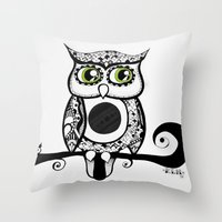 Night Birds #2 Throw Pillow