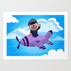 There's an Otter in the Flight Deck Art Print