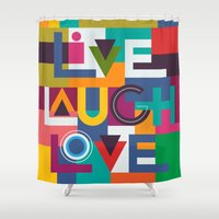 C13 LIVELAUGHLOVE V2 Shower Curtain
