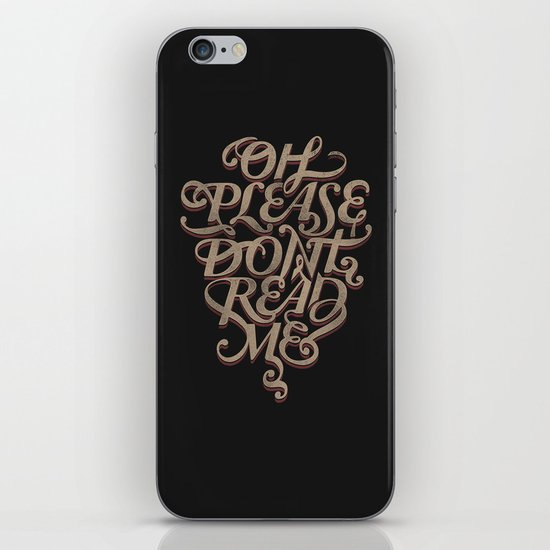 Please Don't iPhone & iPod Skin