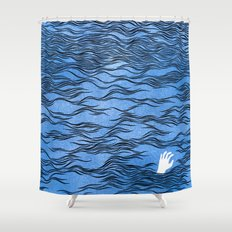 Man & Nature - The Dangerous Sea Shower Curtain