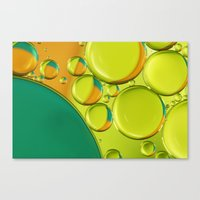 Bubble Abstract With A T… Canvas Print