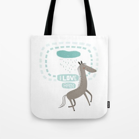 I LOVE RAIN Tote Bag