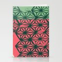 Green and Coral Stationery Cards