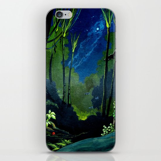 Silent Night in the New Zealand Forest iPhone & iPod Skin