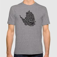 Hairy Smoke Bastard #1 Mens Fitted Tee Athletic Grey SMALL