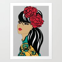 Flamenco Dancer | Spanish Girl | Fashion Illustration Art Print