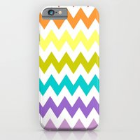 iPhone & iPod Case featuring Rainbow Chevron by hcase