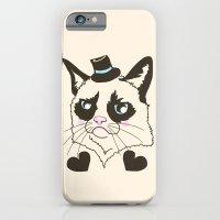 iPhone & iPod Case featuring Pretty grumpy by Lauren dunn