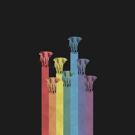 Lightephants Parade Art Print