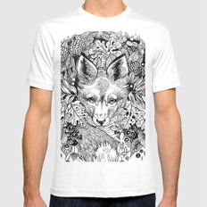hidden fox SMALL White Mens Fitted Tee