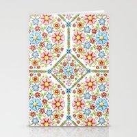 Ditsy Millefiori Pattern Stationery Cards