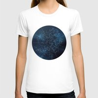 map T-shirts featuring Celestial Map by Rose's Creation