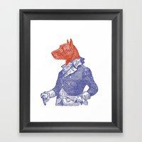 General Dog Framed Art Print