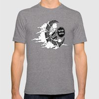 Bad Moon Mens Fitted Tee Tri-Grey SMALL
