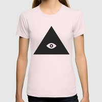 Tri-Eye Womens Fitted Tee Light Pink SMALL