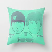 Breaking Bad - Faces - T… Throw Pillow