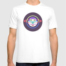 Spaceman 2 White SMALL Mens Fitted Tee