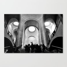 Inside the Louvre  Canvas Print
