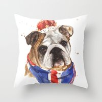 Thank you LONDON - British BULLDOG - Jubilee Art Throw Pillow